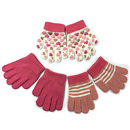Toby Fairy™ Toddler 3-Pack Pink Hearts Gripper Gloves