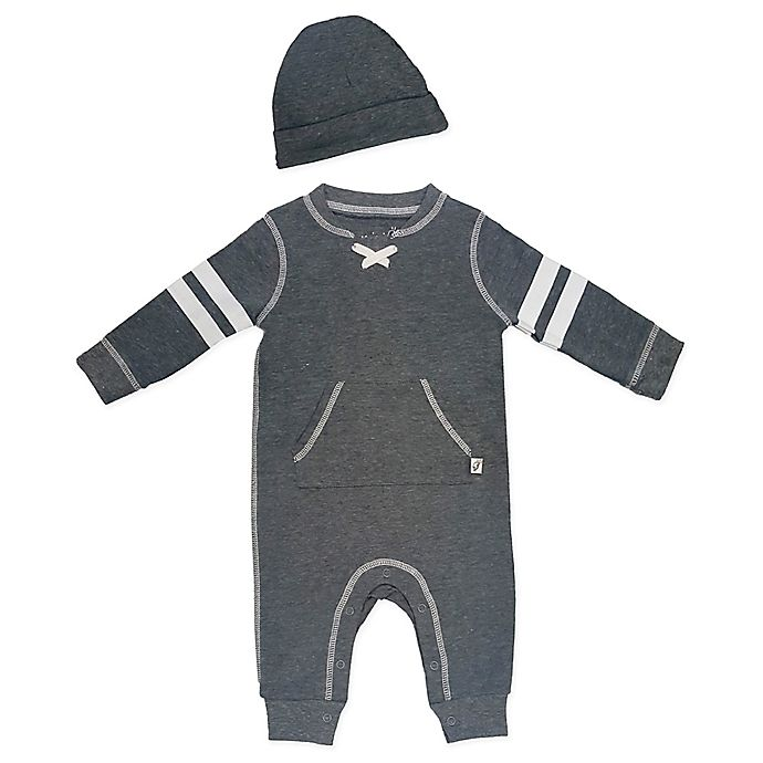 Alternate image 1 for Mini Heroes™ 2-Piece Coverall and Hat Set in Grey