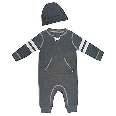 Mini Heroes™ 2-Piece Coverall and Hat Set in Grey