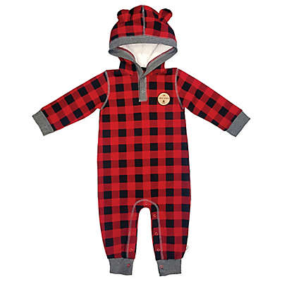 Mini Heroes™ Plaid Hooded Coverall in Red