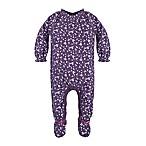 Burt's Bees Baby® Dandelions Preemie Footed Coverall in Purple