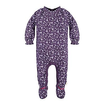 Burt's Bees Baby® Dandelions Preemie Footed Coverall in Purple