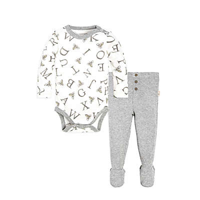 Burt's Bees Baby® Watercolor A Bee C Bodysuit and Thermal Pant Set in Ivory