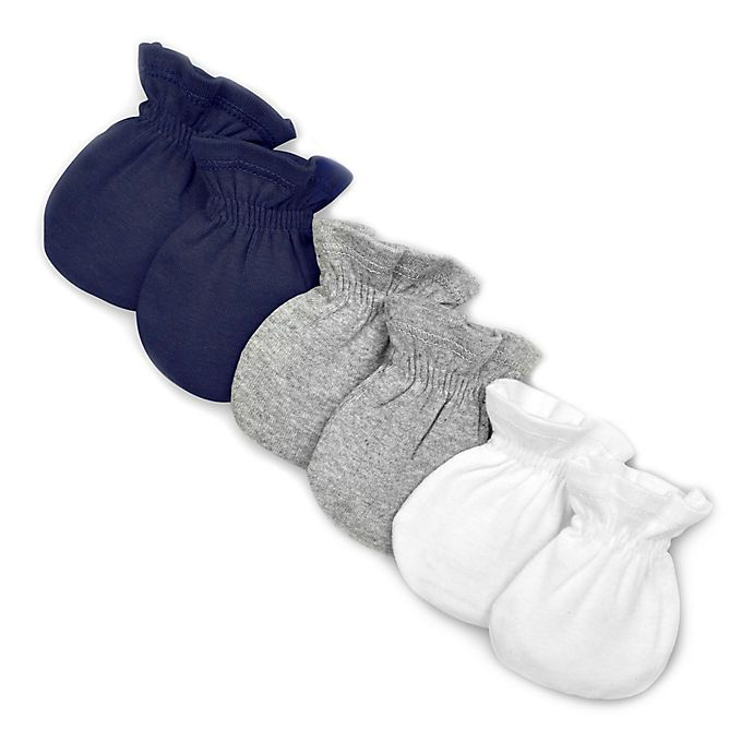 Alternate image 1 for Burt's Bees Baby® 3-Pack Organic Cotton Mittens
