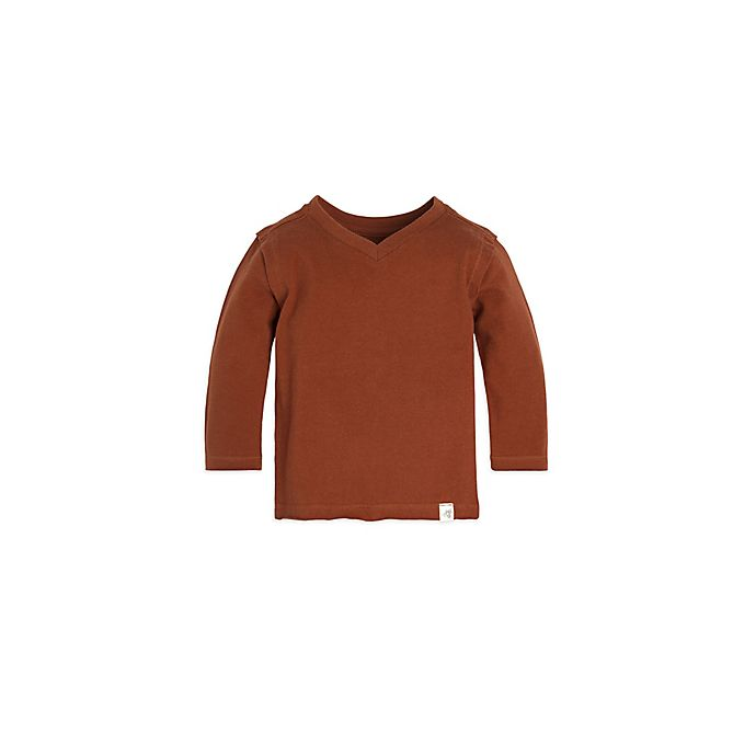 09aa3c3ed Burt s Bees Baby® Solid High V-Neck Shirt in Rust