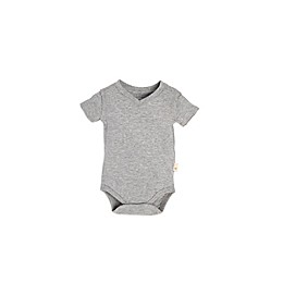 Burt's Bees Baby® Short-Sleeve V-Neck Bodysuit in Grey