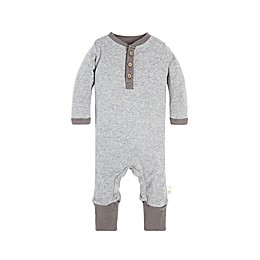 Burt's Bees Baby® Henley Coverall in Grey