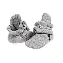 Burt's Bees Baby® Quilted Bee Booties in Grey