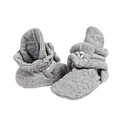 Burt's Bees Baby® Size 3-9M Quilted Bee Booties in Grey