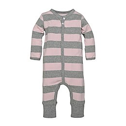 Burt's Bees Baby® Organic Cotton Rugby Stripe Coverall in Pink