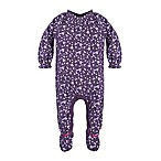 Burt's Bees Baby® Newborn Organic Cotton Dandelions Footed Coverall in Purple