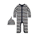 Burt's Bees Baby® Size 3M 2-Piece Stripe Coverall and Hat Set
