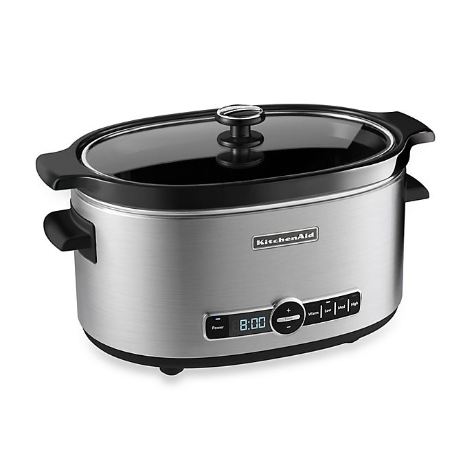 Alternate image 1 for KitchenAid® 6-Quart Slow Cooker with Glass Lid