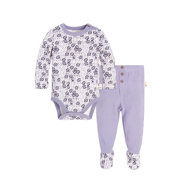 b51bd0ebc Burt's Bees Baby® Dotty Blooms 2-Piece Bodysuit and Pant Set in Purple