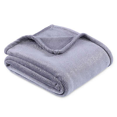 Equip Your Space Foil Print Throw Blanket in Silver