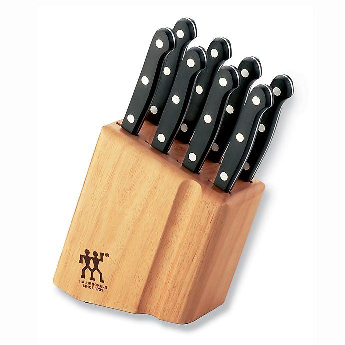 Alternate image 1 for Zwilling® J.A. Henckels Gourmet 9-Piece Steak Knife Block Set
