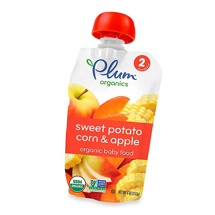 Alternate image 1 for Plum Organics™ Second Blends™ Sweet Potato, Corn and Apple Baby Food Pouch