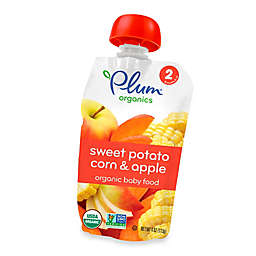 Plum Organics™ Second Blends™ Sweet Potato, Corn and Apple Baby Food Pouch