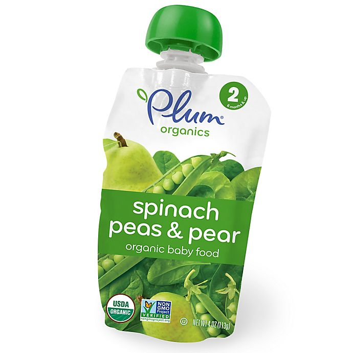 Alternate image 1 for Plum Organics™ Second Blends™ Spinach, Peas and Pear Baby Food Pouch