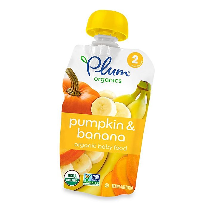 Alternate image 1 for Plum Organics™ Second Blends™ Pumpkin and Banana Baby Food Pouch