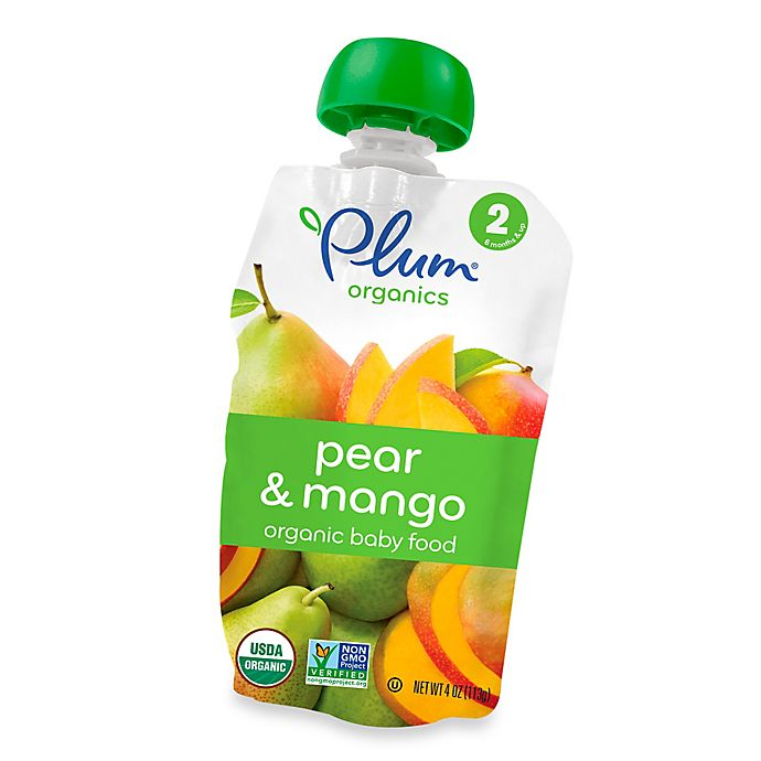 Alternate image 1 for Plum Organics™ Second Blends™ Pear and Mango Baby Food Pouch