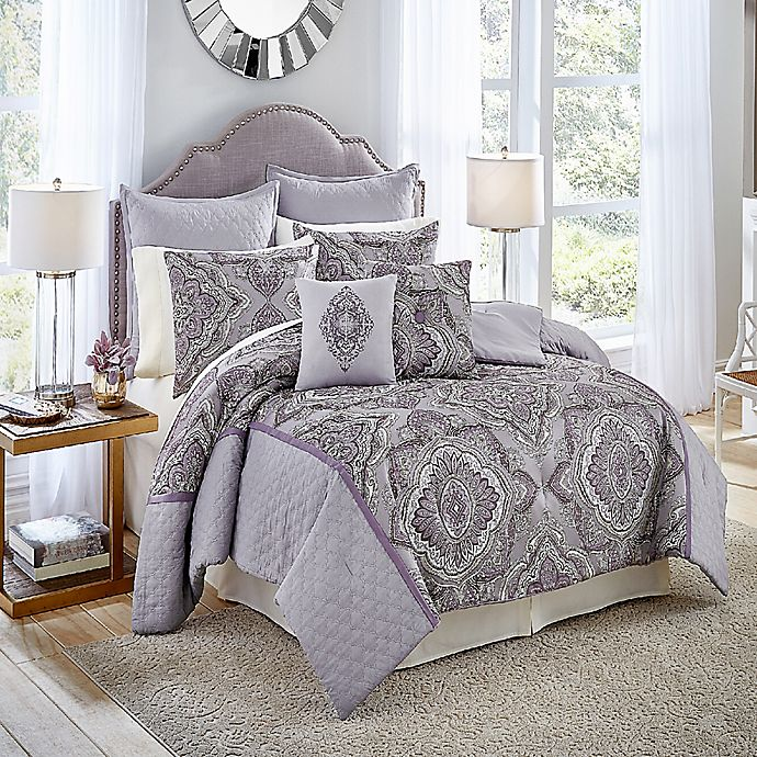 Alternate image 1 for Vue Signature Charleston Queen Comforter Set in Purple
