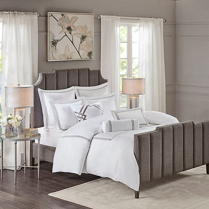 Alternate image 1 for Madison Park Signature Hotel 101 Queen Comforter Set in Grey