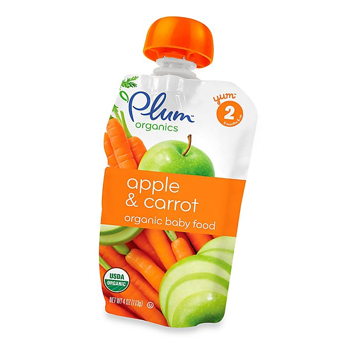 Alternate image 1 for Plum Organics™ Second Blends™ Apple and Carrot Baby Food Pouch