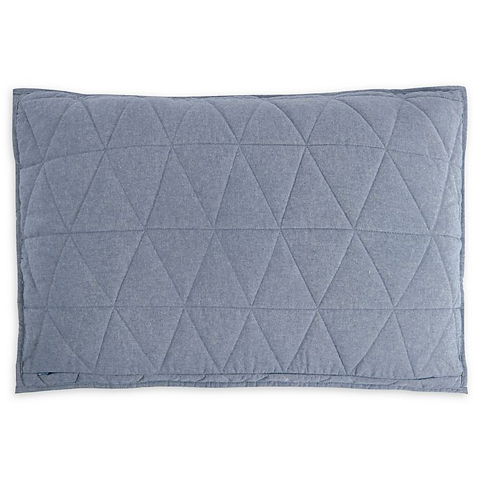 Alternate image 1 for UGG® Terra Standard Pillow Sham in Denim Chambray