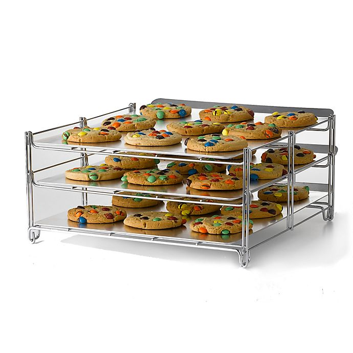 Alternate image 1 for Betty Crocker 3-Tier Baking and Cooling Rack in Chrome