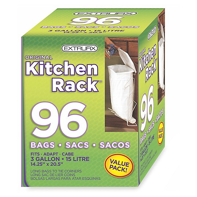 Alternate image 1 for Original Kitchen Rack 3-Gallon 96-Count Refill Bags in White