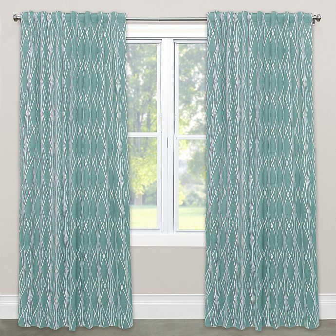 Alternate image 1 for Skyline Furniture Handcut Shapes 63-Inch Rod Pocket/Back Tab Window Curtain Panel in Rain