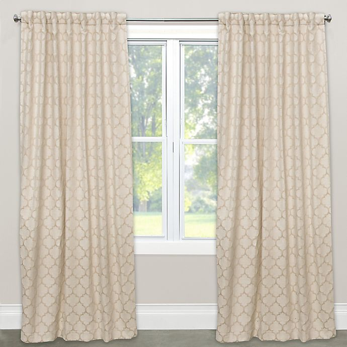 Alternate image 1 for Skyline Furniture Pastis 63-Inch Rod Pocket/Back Tab Window Curtain Panel in Sand