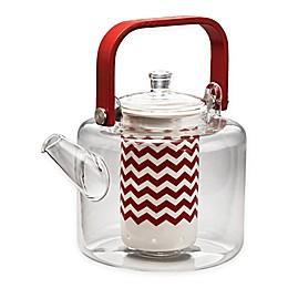 BonJour® 35 oz. Reverie Glass Teapot in Red