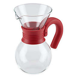 Bonjour® 20 oz. Pour Over Coffee Brewer and Pitcher in Red
