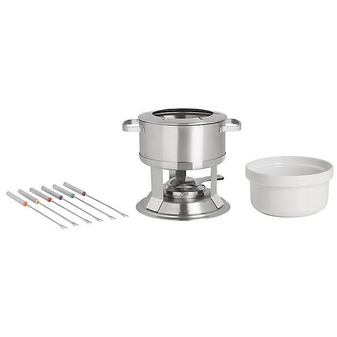 Alternate image 1 for Trudeau® Camelia 3-in-1 Stainless Steel Fondue Set