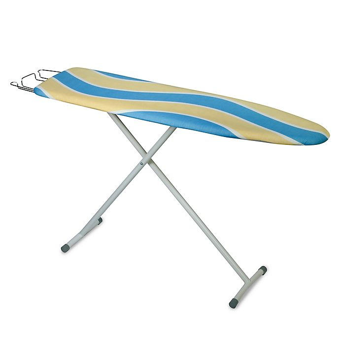 Alternate image 1 for Honey-Can-Do® Deluxe Ironing Board with Retractable Iron Rest in Blue/Yellow