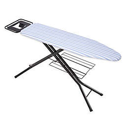 Honey-Can-Do® Quad-Leg Ironing Board with Iron Rest in White/Blue