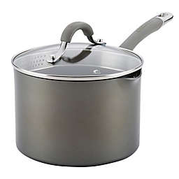 Circulon® Elementum™ Nonstick 3 qt. Hard-Anodized Covered Saucepan in Oyster Grey