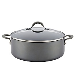 Circulon® Elementum™ Nonstick 7.5 qt. Hard-Anodized Covered Stock Pot in Oyster Grey