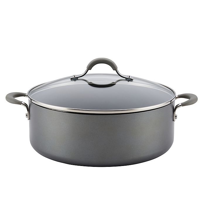 4 Quart Cooking Pot Hard-Anodized 4-Quart Pot with Heavy Gauge Aluminum Body Heat Tempered Glass Cover Non-stick Interior