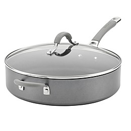 Circulon® Elementum™ Nonstick 5 qt. Hard-Anodized Covered Saute Pan in Oyster Grey