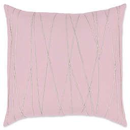 Surya Mio Embroidered European Pillow Sham in Light Lilac/Beige