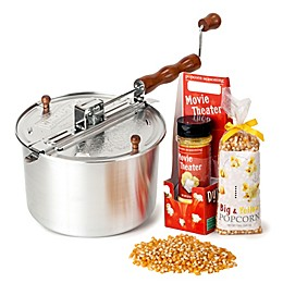 Whirley Pop™ Old Fashioned Popcorn Maker Movie Theater Combo Pack