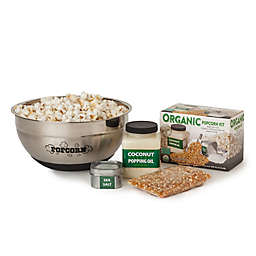 Wabash Valley Farms™ 4-Piece DIY Popcorn Set with Stainless Steel Bowl