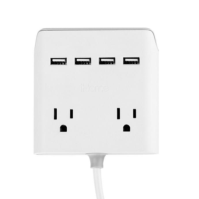Alternate image 1 for iHome® Power Reach 5.4 Amp Power HUB in White