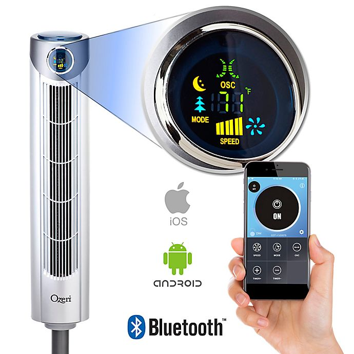 Alternate image 1 for Ozeri® Ultra 42-Inch Oscillating Bluetooth Tower Fan