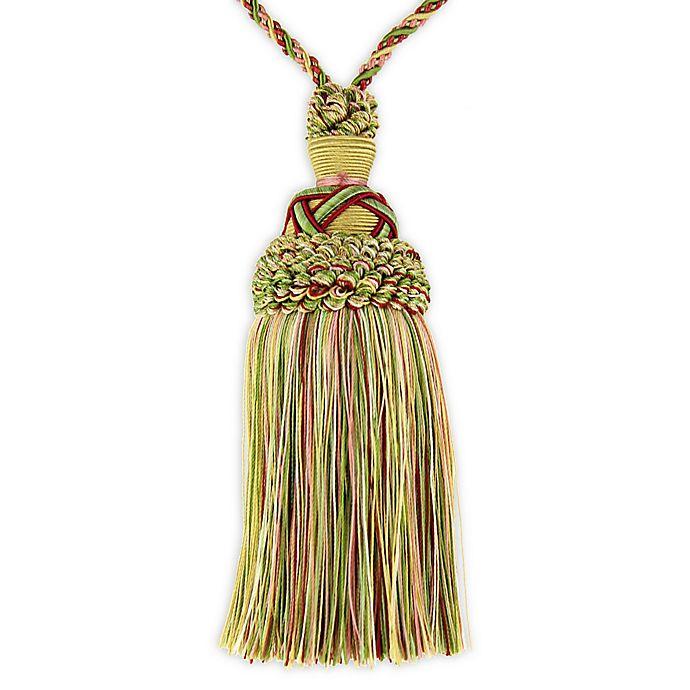 Alternate image 1 for Opulence Key Tassel Tie Back in Pink/Green
