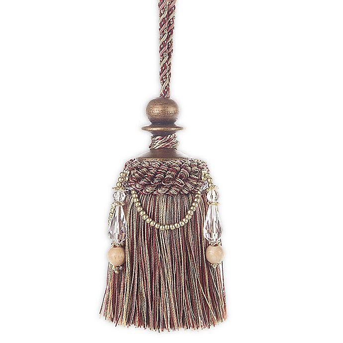 Alternate image 1 for Splendor Key Tassel Tie Back in Burgundy/Green