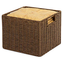 Honey-Can-Do® Paper Rope 12-Inch x 13-Inch Storage Crate in Brown